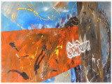 Gemälde Bismirap von kooZal - Acrylbilder und Collagen Mischtechniken