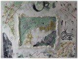 Gemälde Mosque von kooZal - Acrylbilder und Collagen Mischtechniken