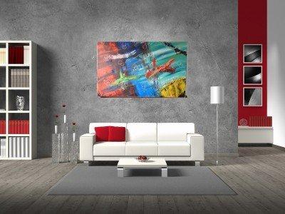 Gemälde Dynamic von kooZal - Acrylbilder und Collagen Mischtechniken