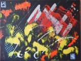 Gemälde Swing von kooZal - Acrylbilder und Collagen Mischtechniken