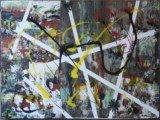 Gemälde Freeze von kooZal - Acrylbilder und Collagen Mischtechniken