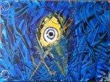 Gemälde The Blue Eye von kooZal - Acrylbilder und Collagen Mischtechniken